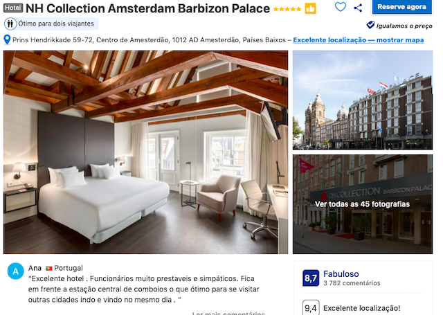 NH Barbizon Palace em Amsterdã