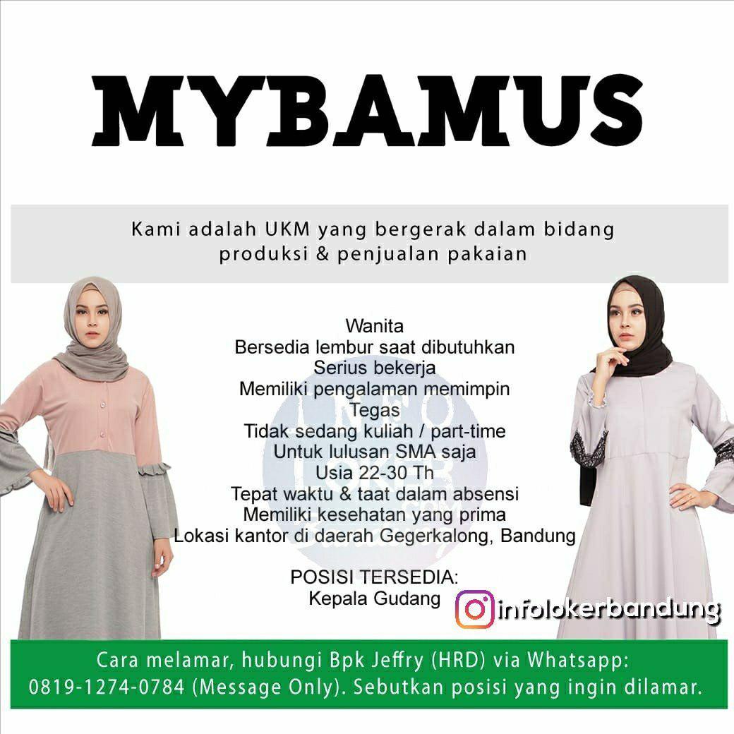 Lowongan Kerja Mybamus Bandung September 2018