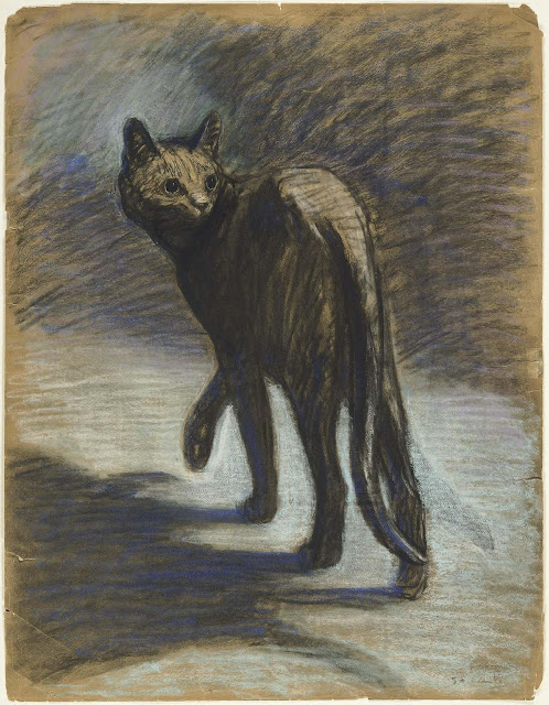 Prowling cat by Steinlen; Companion Animal Psychology news