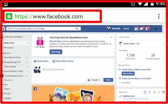 Facebook Desktop Version for Mobile