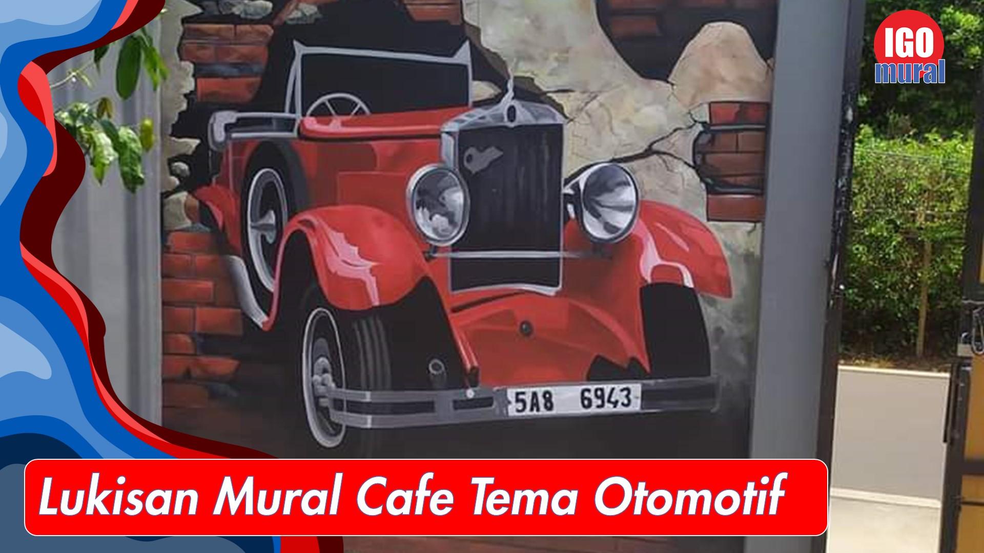 luisan mural cafe tema otomotif