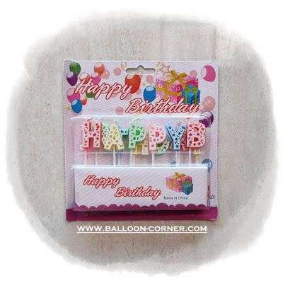 Lilin Ultah Huruf HAPPY BIRTHDAY (BARU)