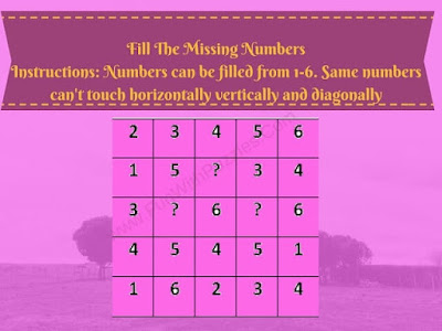 Brain Teaser to find logical pattern and then find the missing numbers