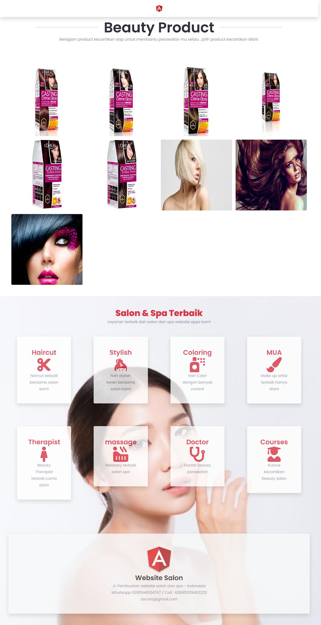 website salon spa