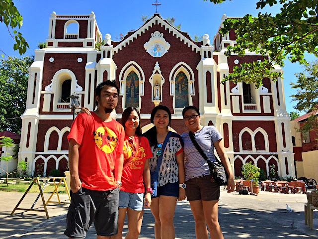 with Monette Santillan in front of The Saint Augustine Parish Church