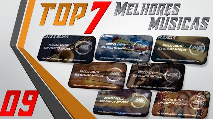 As 7 Melhores Músicas #09 Grátis free use Logo Tipo Designer