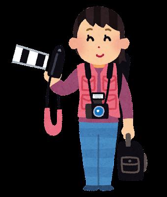 カメラマンのイラスト(女性)