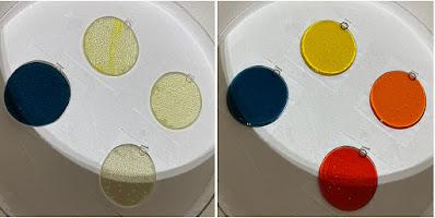 How to Paint Enamel Fused Glass Sun Sharon Warren Glass sharonwarrenglass flutterbybutterfly Striker