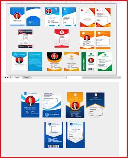 Berikut beberapa gambar desain ID Card yang bisa sobat download
