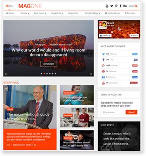 MagOne - News WordPress Theme