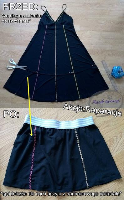 Akcja:Reperacja u Adzika - za długa sukienka skracanie diy
