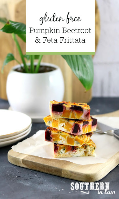 Pumpkin Beet and Feta Frittata Recipes - Healthy Lunch Recipes, Frittata, Egg Bake, Vegetable Recipes, Vegetarian, Gluten Free, Low Fat, High Protein Recipes