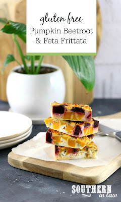 Roasted Pumpkin Beetroot and Feta Frittata Recipe
