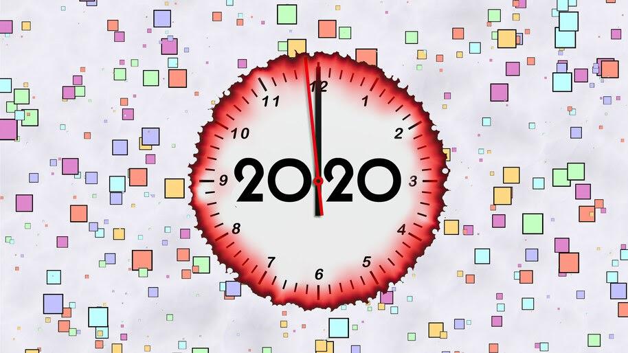 2020, Clock, New Year, 4K, #4.2311