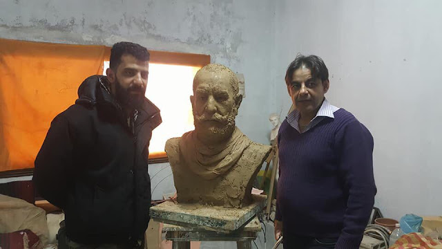 Sculptor works on bust of martyred Syrian General, Issam Zahreddine - Like This Article