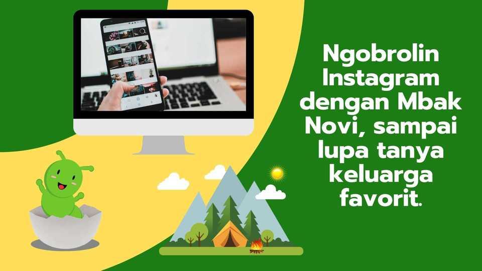 ngobrolin instagram dengan mbak Novi Ibu Profesional Bandung