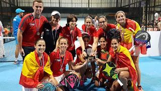 PÁDEL - La selección española femenina defiende el título y sigue siendo la mejor del mundo