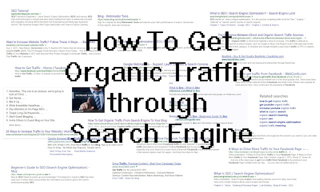 How to get organic traffic through search engines