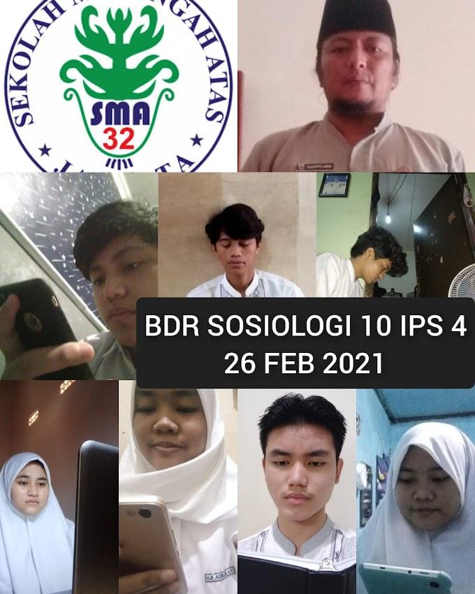 Sosiologi 10 IPS 4 (19 Maret 2021)