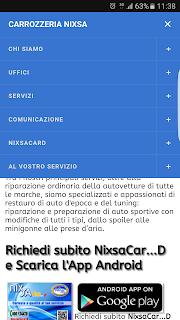 Carrozzeria Nixsa anche da mobile!
