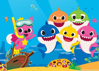 screengrab from Baby Shark music video by Pinkfong