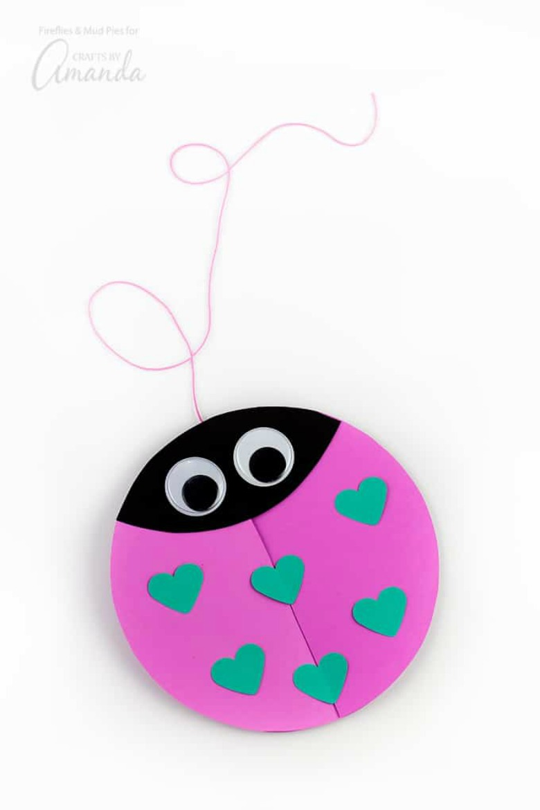 love bug Valentine craft for preschoolers