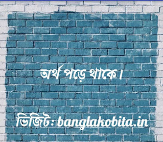বাংলা কবিতা-অর্থ পড়ে আছে