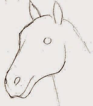 رسم حصان بقلم رصاص للمبتدئين Dz Fashion