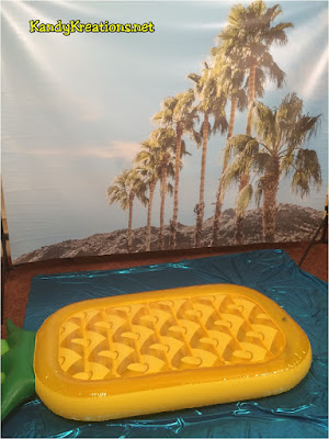 Beach themed photo booth
