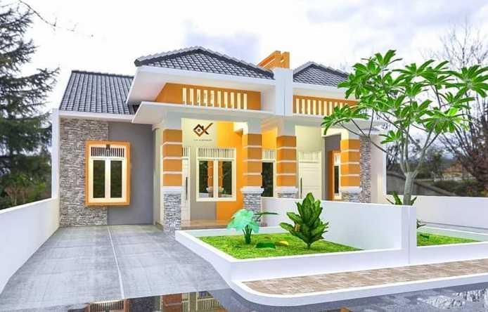 Warna Cat depan rumah minimalis sederhana