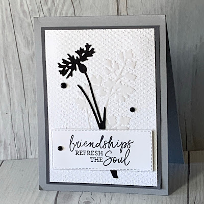 Neutral floral greeting card using the Quiet Meadow Stamp Set from Stampin' Up!