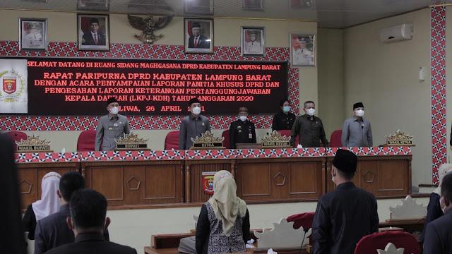 Rapat Paripurna DPRD, Laporan Keterangan Pertanggungjawaban Kepala Daerah (LKPJ-KDH) Tahun Anggaran 2020