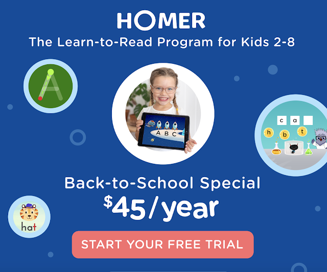 Homer Reading App for Preschool