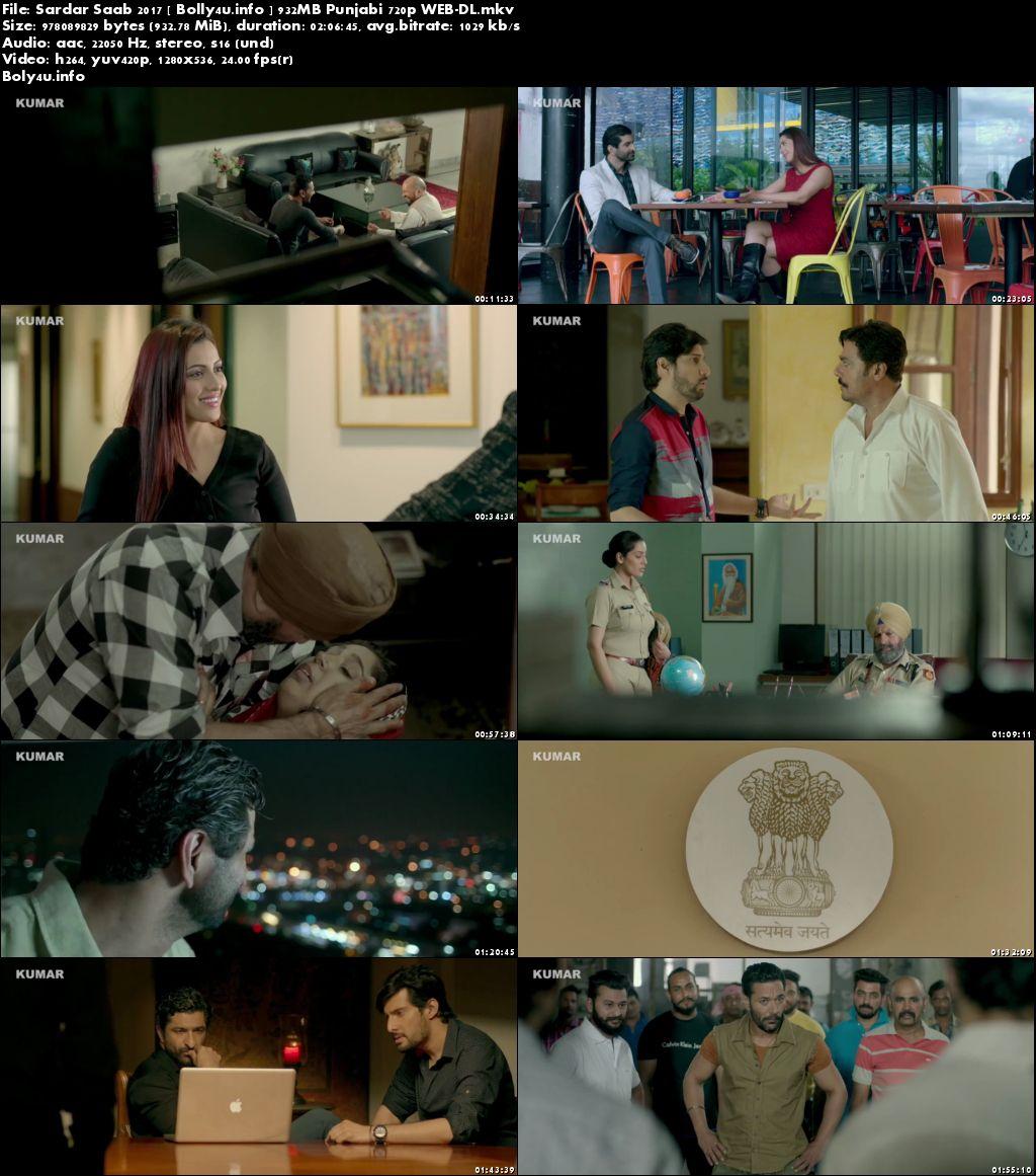 Screen Shoots of Sardar Saab 2017 WEB-DL 900MB Punjabi Movie 720p Watch Online Free at Bolly4u.info