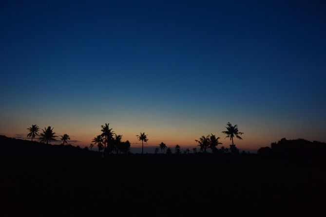 Blue Sky After Sunset in Karimunjawa