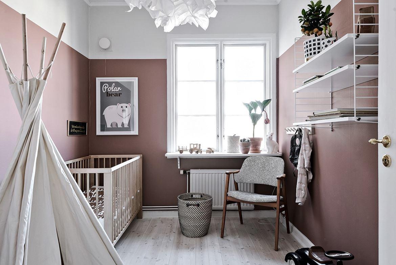 dormitorio infantil, dormitorio rosa, tepee, lamina, decoracion nordica, estilo nordico, escandinavo