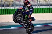 Pebalap Monster Energy Yamaha Fabio Quartararo meraih podium pertama MotoGP Portugal 2021
