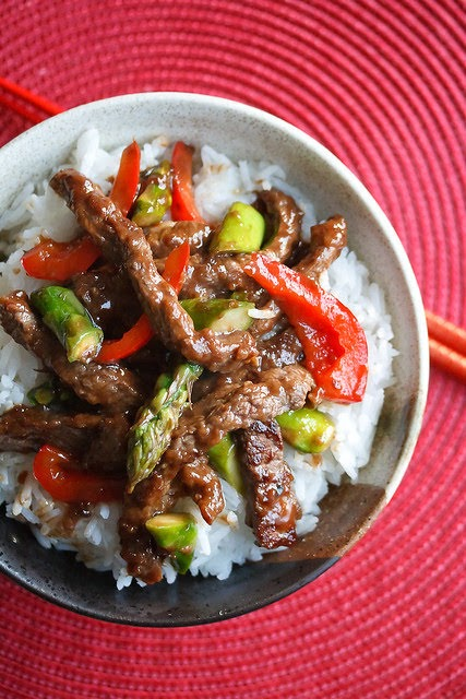 Beef and Asparagus Stir Fry | Photo Courtesy of Crumb Blog