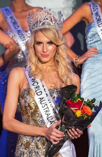 Foto Erin Holland Pemenang Miss World Australia 2013