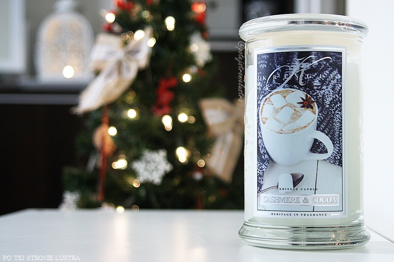 duża świeca zapachowa kringle candle cashmere & cocoa