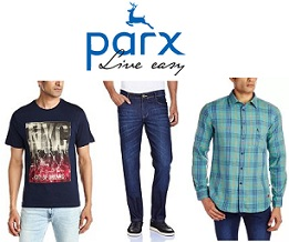 Minimum 50% Off on Men's Parx (From the House of Raymond) Clothing @ Amazon