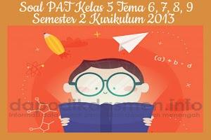 Soal PAT UKK Kelas 5 Semester 2 Tahun 2019 Tema 6, 7, 8, 9