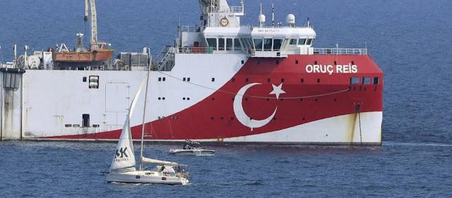 Yeni Safak: «Το Oruc Reis πραγματοποιεί έρευνες (στην ελληνική υφαλοκρηπίδα) - Περιμένουμε καλά νέα για κοιτάσματα»