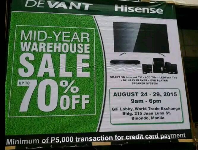 bda5ae6d12ce Devant   Hisense Warehouse Sale this August 24 to 29