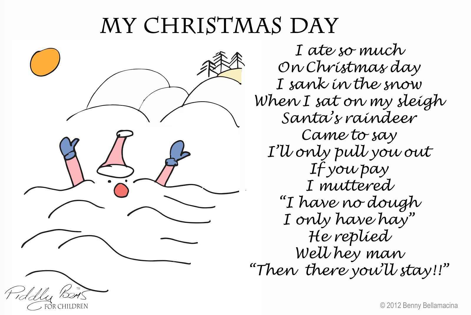 Piddly Poems My Christmas Day