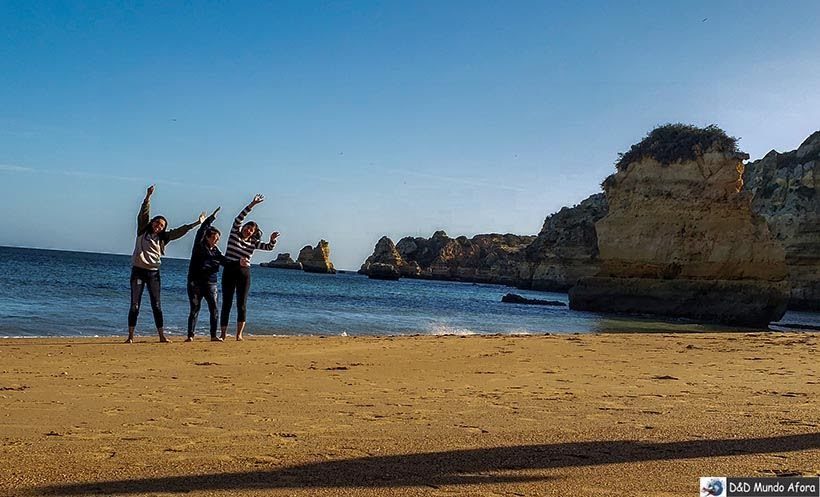 Fazendo graça na Praia Dona Ana