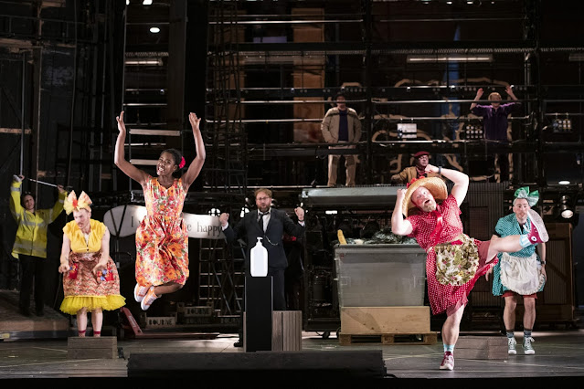 Offenbach: In the market for Love - Rupert Charlesworth, Nardus Williams, Matthew Rose, Brenden Gunnell, Michael Wallace - Glyndebourne (Photo Richard Hubert Smith)