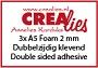 Dubbelzijdig klevend foam 2 mm. Double sided adhesive 2 mm.