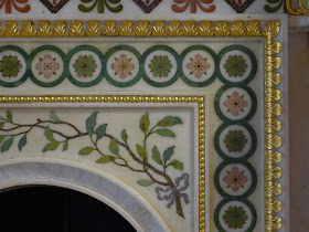 Detail of Robert Adam fireplace in Round Room, Strawberry Hill   © A Knowles 2014