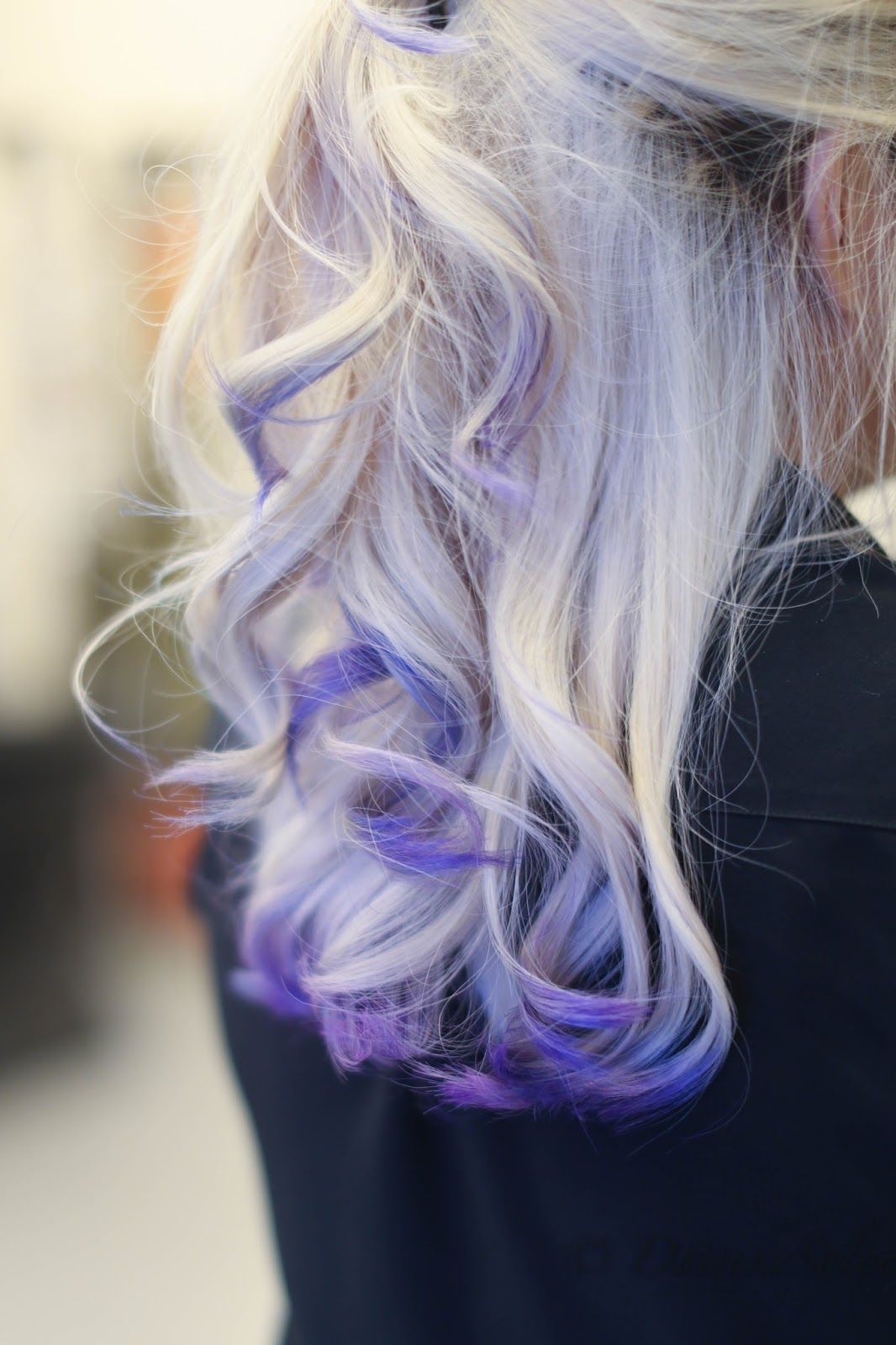 Welcome Colour Player Blonde Hair With Ombre Balayage Purple Blue